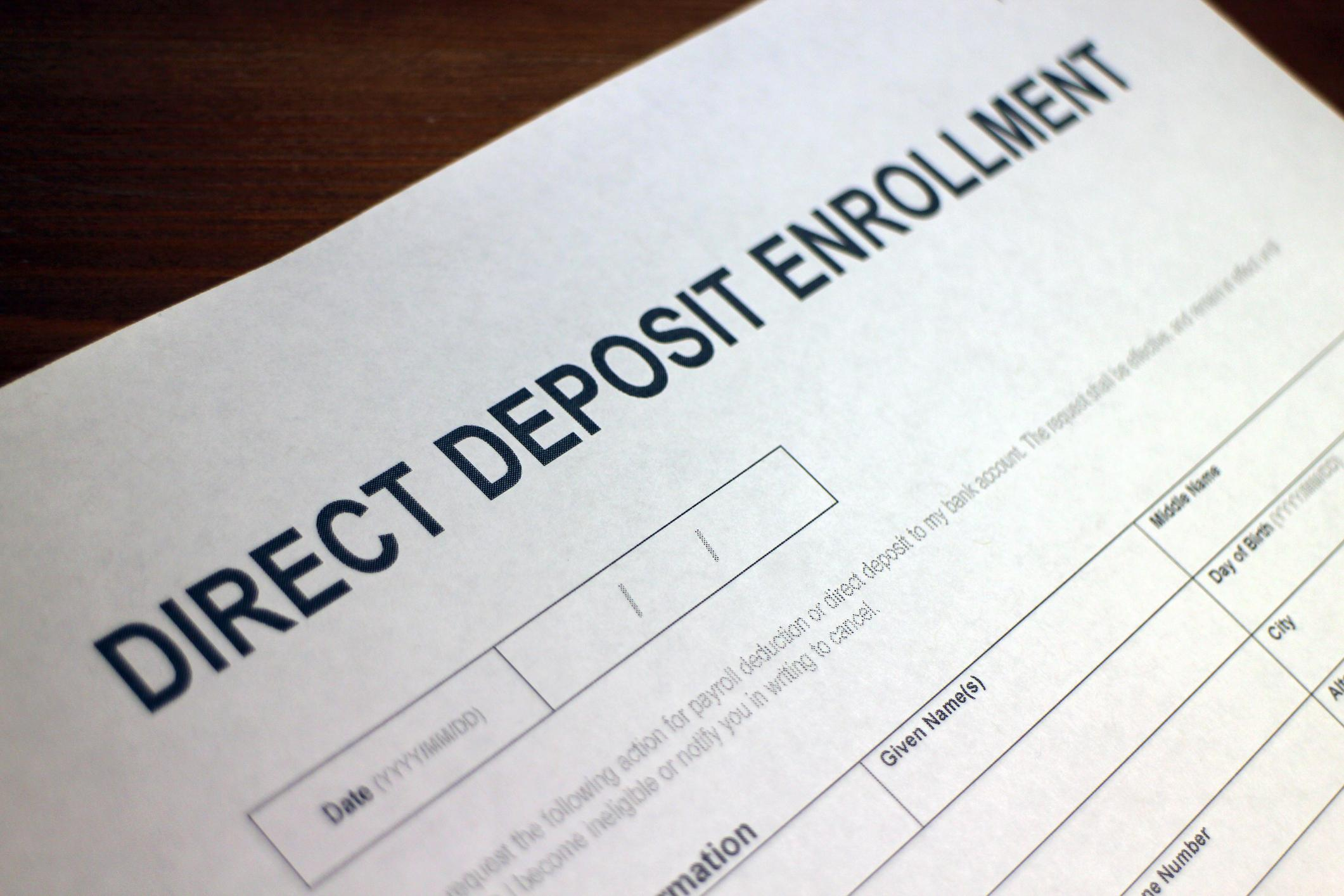 Direct Deposit Enrollment